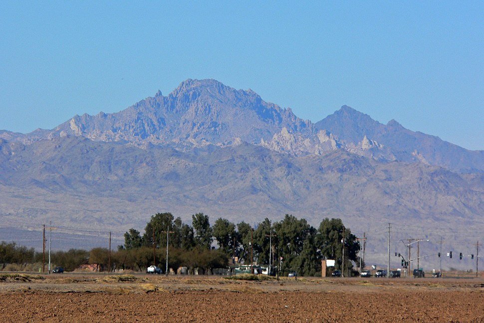 Spirit Mountain from Mohave Valley 1