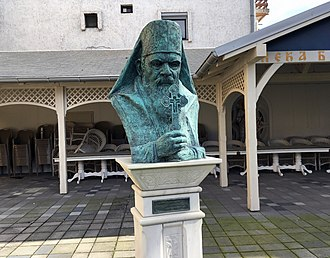 Nikolaj Velimirović - Monument to Nikolaj Velimirović in Šabac