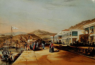 British Hong Kong - Spring Garden Lane, 1846