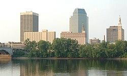 Skyline of Springfield, Massachusetts