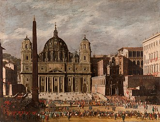 "Sublime (philosophy) - Viviano Codazzi: Rendition of St. Peter's Square, Rome, dated 1630. Kant referred to St. Peter's as ""splendid"", a term he used for objects producing feeling for both the beautiful and the sublime."