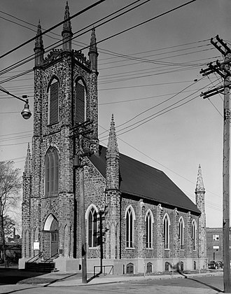 St. John's Episcopal Church (Cleveland, Ohio) - Front of the church