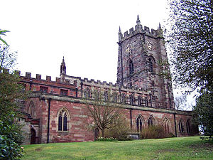 Market Drayton - St. Mary's Church from the south