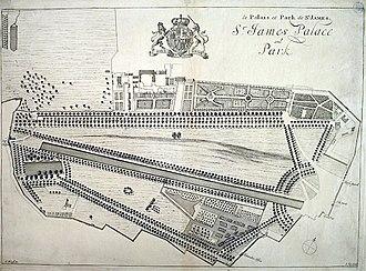St James's Park - Image: St James's Park (original layout)