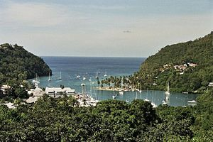 Marigot Bay, in Saint Lucia http://www.ianandw...
