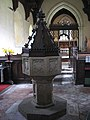 St Peter's church - baptismal font - geograph.org.uk - 773240.jpg