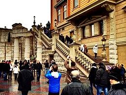 Stairs on the side of Honka in Mezhyhirya.jpg