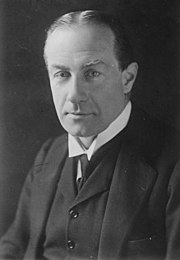 Stanley Baldwin, Chamberlain's predecessor, with whom he had a long if turbulent political partnership