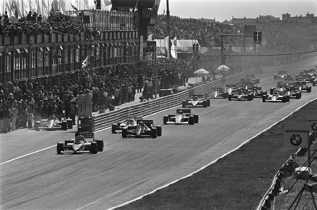 Start of 1985 Dutch Grand Prix
