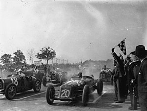 Italian Grand Prix - 1931 GP race start