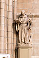 Statue de saint Aubin, Basilique Notre Dame de Bonne Nouvelle, Rennes, France.jpg