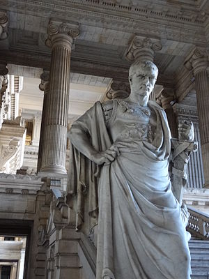 Ulpian - 19th century statue of Ulpian in the neoclassical Palais de Justice in Brussels, Belgium.
