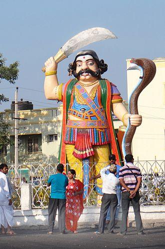 Mahishasura - Demon Mahishasura statue in Mysuru, Karnataka, India