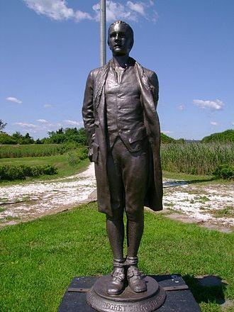 Captain Nathan Hale (statue) - Image: Statue of Nathan Hale at Fort Nathan Hale in New Haven, CT