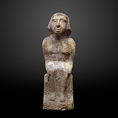 Statue of a seated man-39.832