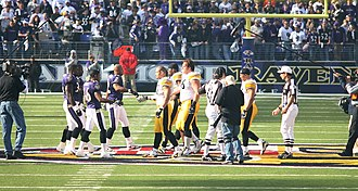 Ravens–Steelers rivalry - Image: Steelers Ravens midfield