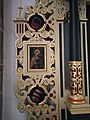 Stifterwappen am Geismar-Altar links in Warburg St.Johannes Bapt.jpg