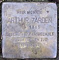 Stolperstein Goßlerstr 21 (Dahl) Arthur Zarden.jpg