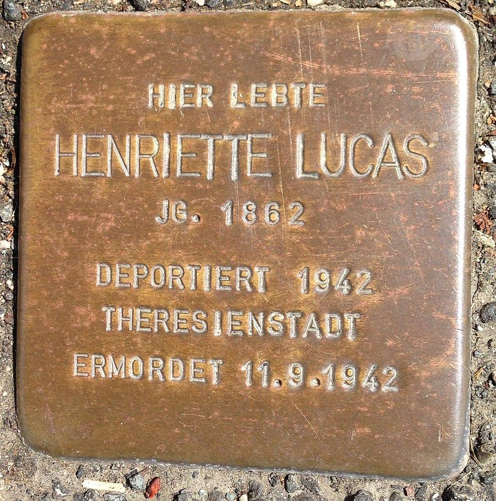Stolperstein Herborn Nassaustraße 3 Henriette Lucas