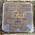 Stolperstein Karlsruhe Hedwig Metzger Am Stadtgarten 3 (sk).jpg