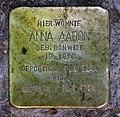 Stolperstein Kulmbacher Str 7 (Wilmd) Anna Aaron.jpg