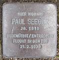 Stolperstein Luruper Chaussee 119 (Paul Seeger) in Hamburg-Bahrenfeld.JPG
