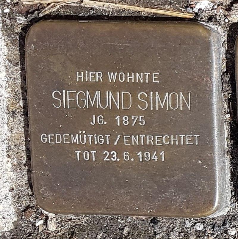 Stolperstein von Siegmund Simon