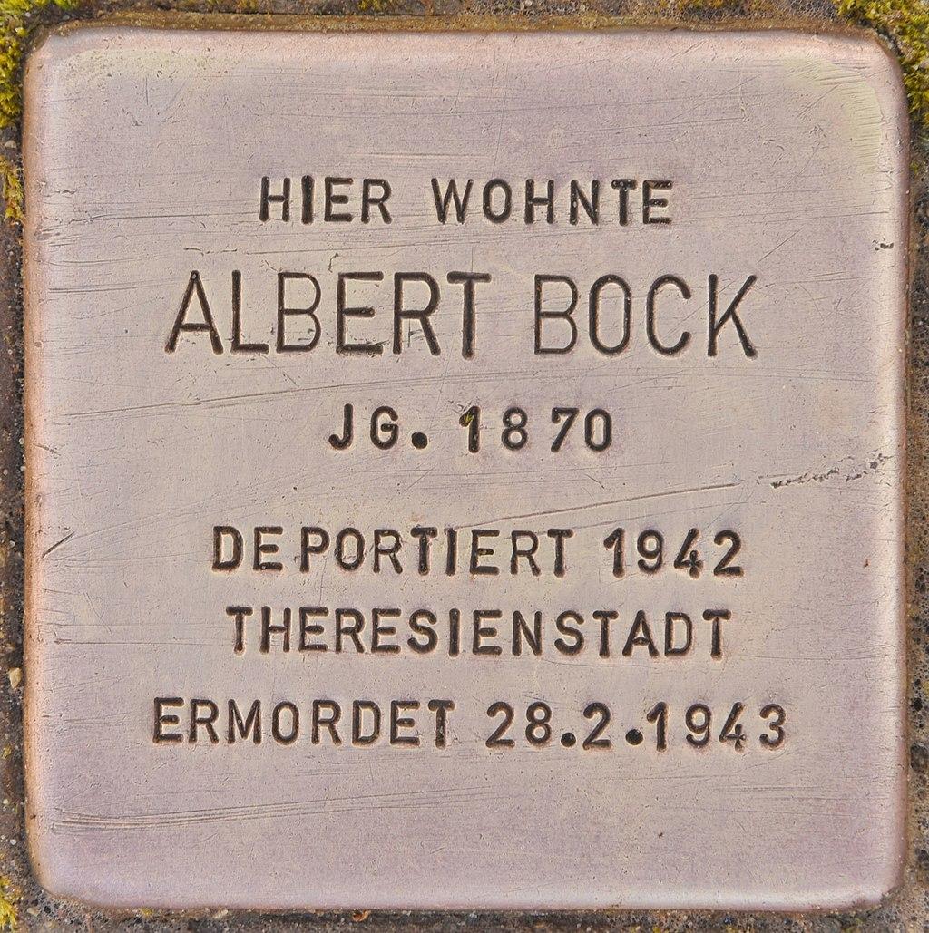 Stolperstein für Albert Bock (Lübben).jpg