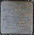 Stolpersteine Köln Abraham Mantel Fleischmengergasse 26.jpg