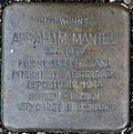 Stumbling stone for Abraham Mantel (Fleischmengergasse 26)