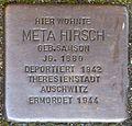 Stolpersteine Krefeld, Meta Hirsch (Wilhelmshofallee 74).jpg