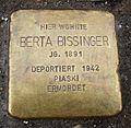 Stolpersteine für Berta Bissinger in Neu-Ulm.JPG