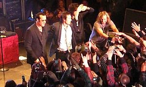Stone Temple Pilots discography - Stone Temple Pilots greeting fans after a show on April 7, 2008, their first since breaking up in 2002.