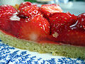 Strawberry tart in profile, October 2008.jpg