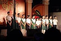 Bangladesh-Education-Students of Bangladesh Bank Colony High School performed in Rajat Jayanti (01)