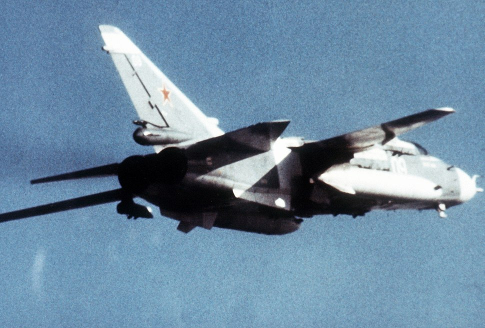 Su-24 Fencer right rear view