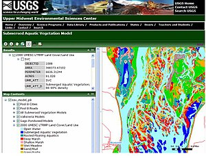 GIS and aquatic science - ArcGIS Server website depicting submersed aquatic vegetation.