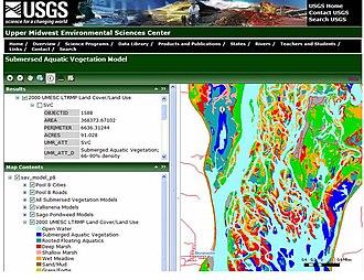 GIS and aquatic science - ArcGIS Server website depicting submersed aquatic vegetation.