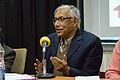 Sukanta Chaudhuri - Panel Discussion - Collaboration with Academic Institutes for the Growth of Wikimedia Projects in Indian Languages - Bengali Wikipedia 10th Anniversary Celebration - Jadavpur University - Kolkata 2015-01-10 3440.JPG