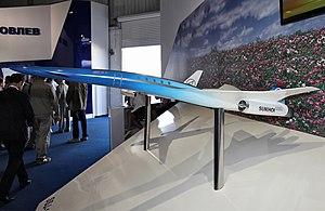 موسوعة طائرات السوخوي - صفحة 2 300px-Sukhoi_SSBJ_project_model
