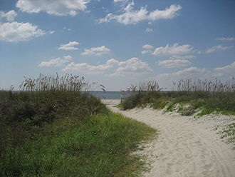 Sullivan's Island, South Carolina - The beach at Sullivan's Island
