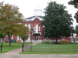 The Sumter County Courthouse in Livingston, Alabama