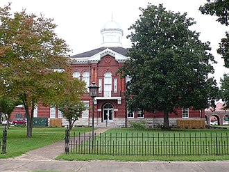 Livingston, Alabama - The Sumter County Courthouse in Livingston, Alabama