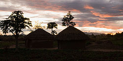 Sunrise in Patongo internally displaced person camp, Pader