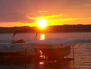 Clear Lake (Iowa) - A summer sunset. Taken from Buzzards Bay