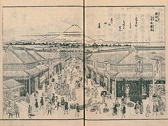 One Hundred Famous Views of Edo - Image: Suruga chô