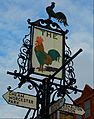 Sutton, Surrey, London Sign at crossroads.JPG