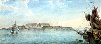 Svartholm fortress - The Svartholm sea fortress, portrayed by Gavril Sergeyev in 1809.