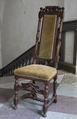 Svarvad stol med grön sammet, 1700 cirka - Skoklosters slott - 103830.tif