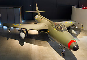 Swedish Air Force Museum - J34 Hawker Hunter on display at the museum